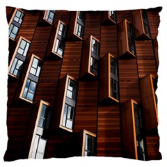 Abstract Architecture Building Business Large Flano Cushion Case (one Side)