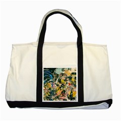 Art Graffiti Abstract Vintage Lines Two Tone Tote Bag
