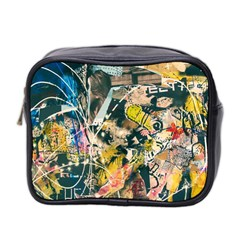 Art Graffiti Abstract Vintage Lines Mini Toiletries Bag 2 Side