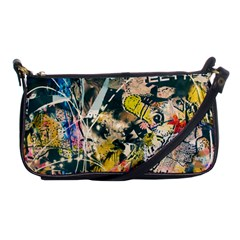 Art Graffiti Abstract Vintage Lines Shoulder Clutch Bags by Amaryn4rt