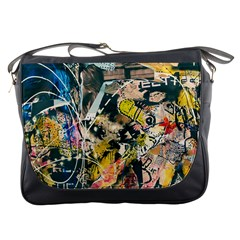 Art Graffiti Abstract Vintage Lines Messenger Bags
