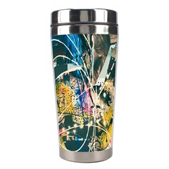 Art Graffiti Abstract Vintage Lines Stainless Steel Travel Tumblers