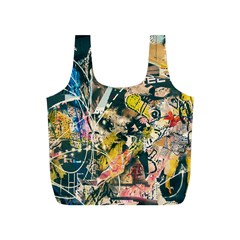 Art Graffiti Abstract Vintage Lines Full Print Recycle Bags (s)
