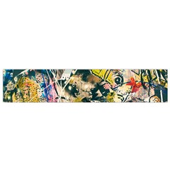 Art Graffiti Abstract Vintage Lines Flano Scarf (small)