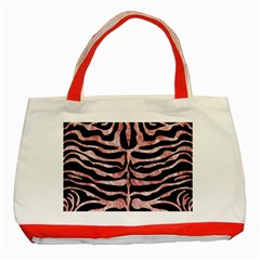 Skin2 Black Marble & Red & White Marble Classic Tote Bag (red)