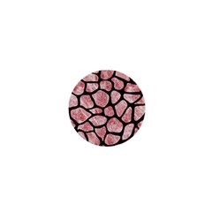 Skin1 Black Marble & Red & White Marble 1  Mini Magnet by trendistuff