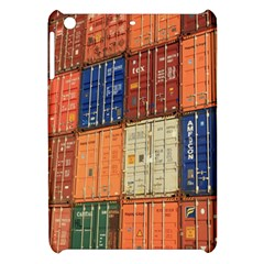 Blue White Orange And Brown Container Van Apple Ipad Mini Hardshell Case