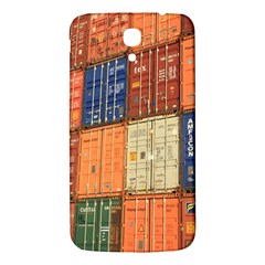Blue White Orange And Brown Container Van Samsung Galaxy Mega I9200 Hardshell Back Case