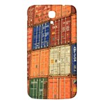 Blue White Orange And Brown Container Van Samsung Galaxy Mega I9200 Hardshell Back Case Front