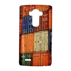 Blue White Orange And Brown Container Van Lg G4 Hardshell Case by Amaryn4rt