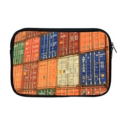 Blue White Orange And Brown Container Van Apple Macbook Pro 17  Zipper Case by Amaryn4rt