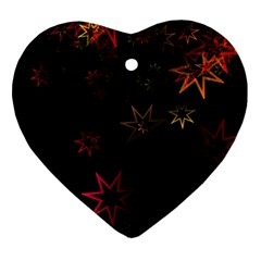 Christmas Background Motif Star Ornament (heart)  by Amaryn4rt