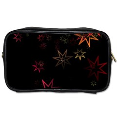 Christmas Background Motif Star Toiletries Bags by Amaryn4rt