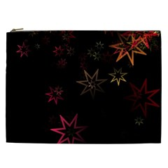 Christmas Background Motif Star Cosmetic Bag (xxl)  by Amaryn4rt