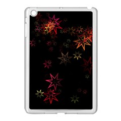 Christmas Background Motif Star Apple Ipad Mini Case (white) by Amaryn4rt