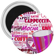 Coffee Cup Lettering Coffee Cup 3  Magnets by Amaryn4rt