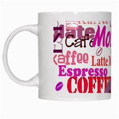 Coffee Cup Lettering Coffee Cup White Mugs by Amaryn4rt