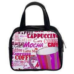 Coffee Cup Lettering Coffee Cup Classic Handbags (2 Sides) by Amaryn4rt