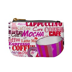 Coffee Cup Lettering Coffee Cup Mini Coin Purses by Amaryn4rt