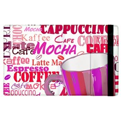 Coffee Cup Lettering Coffee Cup Apple Ipad 2 Flip Case by Amaryn4rt