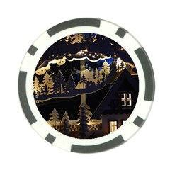 Christmas Advent Candle Arches Poker Chip Card Guards by Amaryn4rt