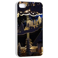 Christmas Advent Candle Arches Apple Iphone 4/4s Seamless Case (white) by Amaryn4rt