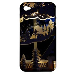 Christmas Advent Candle Arches Apple Iphone 4/4s Hardshell Case (pc+silicone) by Amaryn4rt