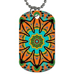 Color Abstract Pattern Structure Dog Tag (two Sides) by Amaryn4rt