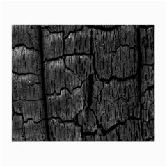Coal Charred Tree Pore Black Small Glasses Cloth by Amaryn4rt