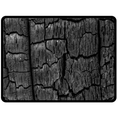 Coal Charred Tree Pore Black Double Sided Fleece Blanket (large)  by Amaryn4rt