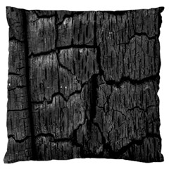 Coal Charred Tree Pore Black Large Flano Cushion Case (two Sides)