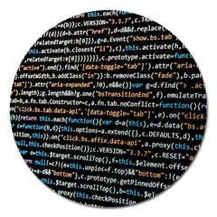 Close Up Code Coding Computer Magnet 5  (round) by Amaryn4rt