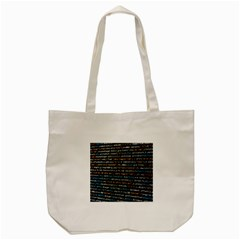 Close Up Code Coding Computer Tote Bag (cream) by Amaryn4rt