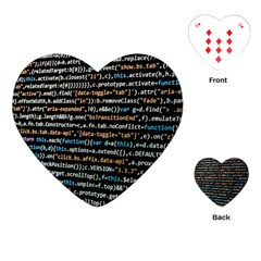 Close Up Code Coding Computer Playing Cards (heart)  by Amaryn4rt