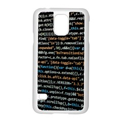 Close Up Code Coding Computer Samsung Galaxy S5 Case (white) by Amaryn4rt