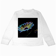 Flower Pattern Design Abstract Background Kids Long Sleeve T Shirts by Amaryn4rt