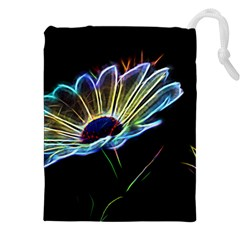 Flower Pattern Design Abstract Background Drawstring Pouches (xxl) by Amaryn4rt
