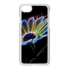Flower Pattern Design Abstract Background Apple Iphone 7 Seamless Case (white) by Amaryn4rt