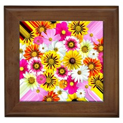 Flowers Blossom Bloom Nature Plant Framed Tiles by Amaryn4rt