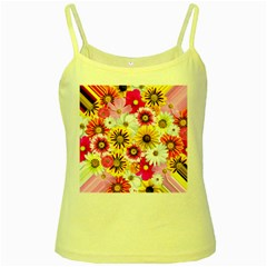 Flowers Blossom Bloom Nature Plant Yellow Spaghetti Tank by Amaryn4rt