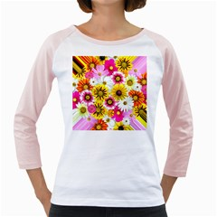 Flowers Blossom Bloom Nature Plant Girly Raglans by Amaryn4rt