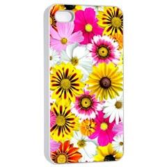 Flowers Blossom Bloom Nature Plant Apple Iphone 4/4s Seamless Case (white) by Amaryn4rt