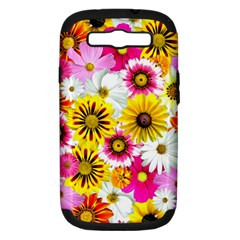 Flowers Blossom Bloom Nature Plant Samsung Galaxy S Iii Hardshell Case (pc+silicone) by Amaryn4rt