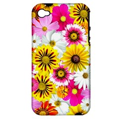 Flowers Blossom Bloom Nature Plant Apple Iphone 4/4s Hardshell Case (pc+silicone) by Amaryn4rt