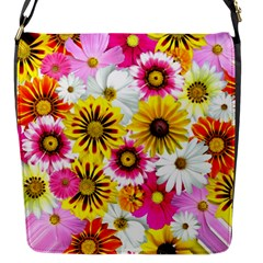Flowers Blossom Bloom Nature Plant Flap Messenger Bag (s)