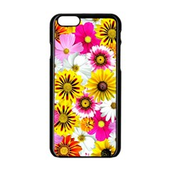 Flowers Blossom Bloom Nature Plant Apple Iphone 6/6s Black Enamel Case by Amaryn4rt