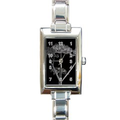 Dog Tube White Night Dark Ice Rectangle Italian Charm Watch