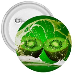 Kiwi Fruit Vitamins Healthy Cut 3  Buttons by Amaryn4rt