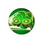 Kiwi Fruit Vitamins Healthy Cut Magnet 3  (Round) Front