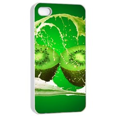 Kiwi Fruit Vitamins Healthy Cut Apple Iphone 4/4s Seamless Case (white) by Amaryn4rt